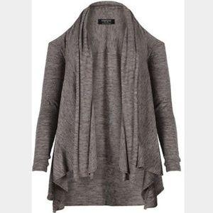 ALL SAINTS Disclose Cardigan Cold Shoulder Size 8